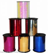 5mm x 250yds Metallic Poly Curling Ribbon 6 Colours Wedding Party Balloons